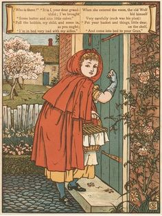 Walter Crane. (1845-1915) Little Red Riding Hood.