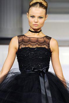 close-up of an oscar de la renta gown