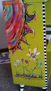 book case I painted for client. Carolyn's Funky Furniture: GALLERY