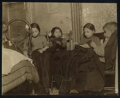 Children sewing, New York (early 1900's)
