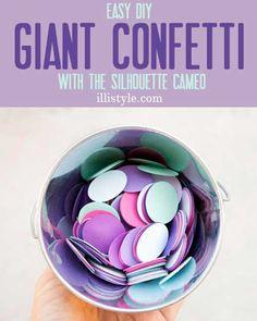 Easy DIY Giant Confetti with the Silhouette Cameo - illistyle.com #confetti #silhouette
