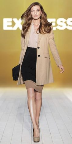 business clothes, work clothes, fashion, style, offic, pencil skirts, fall work, trench coats, interview outfit