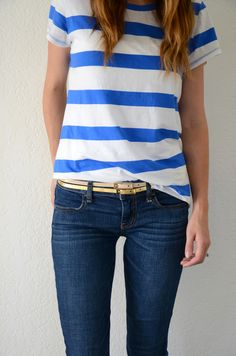 Doubled up skinny belts. You're already making a statement by wearing two belts, so keep the colors toned down.