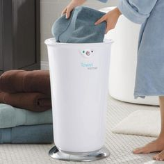 Towel Warmer - warms your towel in just 10 minutes—and keeps it warm while you shower.