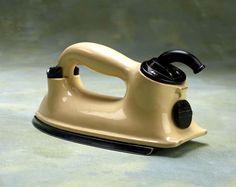 HMV 'Ceramic' electric iron, c 1936.
