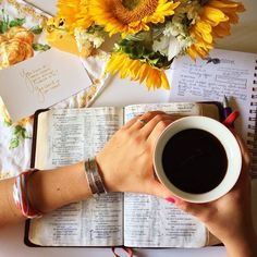 Coffee. Word. Flowers.