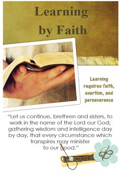 Didi @ Relief Society: Lorenzo Snow - Chapter 1 - Learning by Faith - handout