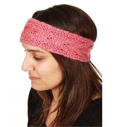Rose Pink Crochet Headband