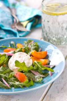 Pickled Apricot and Arugula Salad http://www.acommunaltable.com/apricot-arugula-salad/
