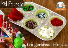 Easy Gingerbread Houses for Kids