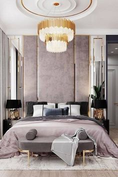 Glamorous and exciting bedroom decor. See more luxurious interior design details at luxxu.net #luxxumoderndesignliving #lifestylebyluxxu #luxury #luxurydesign #luxuryfurniture #furnituredesign #furniture #moderndesign #designinspiration #designinspo #luxuriouslifestyle #interiordesign #modernlamps #luxurylamps #luxurychandeliers #bedroom #bedroomdecor #bedroominspo #bedroomdesign #bedroomgoals #bedrooms #bedroomideas #bedroominspiration #bedroomstyle