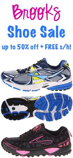 Brooks Shoe Sale: up to 50% off + FREE Shipping!! #shoes #thefrugalgirls