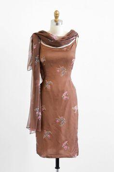 1960's Silk Cocktail Dress