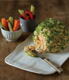 Are you ready for some cheese ball?  Buffalo Chicken Cheese Ball recipe for the Big Game