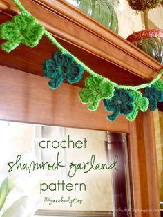 Crocheted Shamrock Garland Pattern - free crochet pattern
