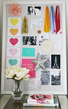 DIY GRATITUDE BOARD | Real life Pin Board! I love it!