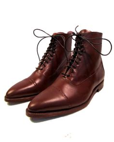 Men's STEAMPUNK Victorian Brown Leather Boots by Atomicfireball