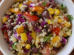 Black Bean Quinoa Salad Delicious and so healthy. Great for a crowd or just a lunch. Vegan and Gluten free. killthemwithkale.com