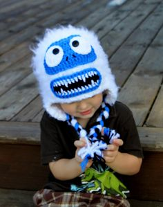 Crochet hat Bumble the Abominable Snow Monster $35
