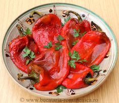 Roasted pimiento pepper salad
