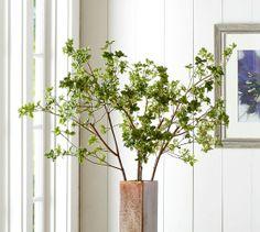 Faux Green Umbrella Branch | Pottery Barn