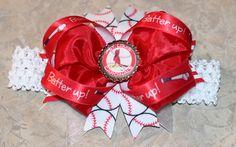 Custom St. Louis Cardinals Bow with Headband