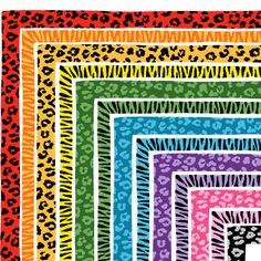 Leopard and Zebra Print Border Set