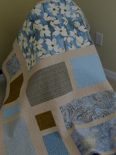 blue quilt!!! #quilt