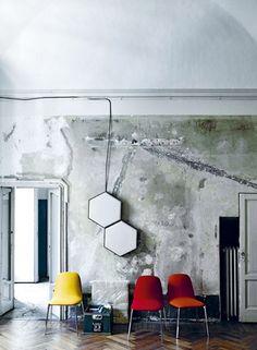 mixing modern in a raw, urban setting