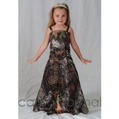 Muddy Girl Camo Weddiong Dress   ... com prom 2011 do you plan to wear short camo prom long camo prom wedding dressses, camo flower, idea, futur, camo wedding, flower girl dresses, flowers, flowergirl, flower girls