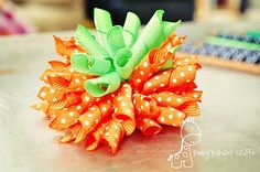 Cute Pumpkin Bow/Korker Bow tutorial