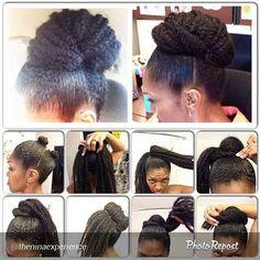 Marley hair bun protective style