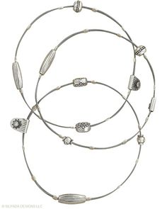 Three Bangles host #CubicZirconia and #SterlingSilver accents that are scattered to perfection. #Silpada #Sparkle