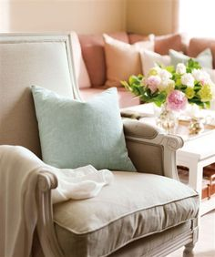 pastel, interior, spanish homes, color palettes, accent pillows, hous, furniture decor, office chairs, zsazsa bellagio