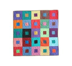 pippapquilts:  Colorful baby quilt by Pippa Quilts