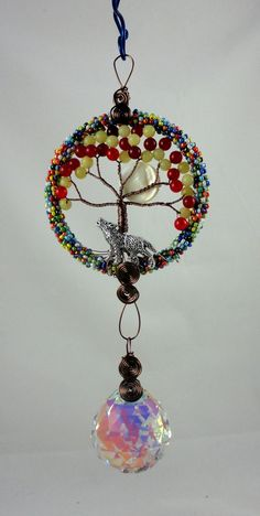 Tree of life full moon crystal Suncatcher with by LifeForceEnergy, $36.00