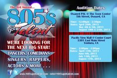 805S GOT TALENT AUDITIONS START THIS WEEK  Get The Details On How You Can Enter This Contest For All Ages