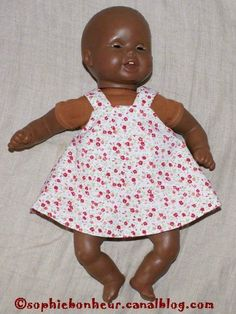 how to sew a doll dress - step by step