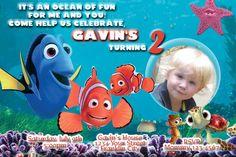Finding Nemo Personalized Photo Birthday by Littletotsinvites, $14.95