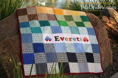 Easy Pezzy Crib Quilt by Pile O' Fabric by PileOFabric, via Flickr