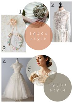 1940s and 1950s wedding inspiration board that I curated for @Etsy    https://www.etsy.com/blog/en/2013/love-my-dress/