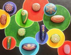 Dot painted Stone 4 Australia by ArtAndBeing on Etsy