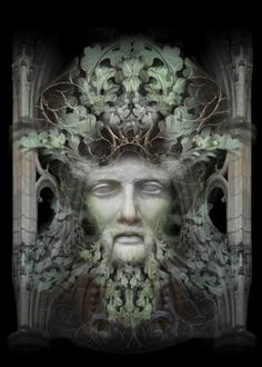 Personification of The Green Man   Art Print by by indigolights  ....a very cool shop, amazing art!!
