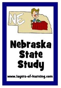 Nebraska state study for kids with a printable map of Nebraska