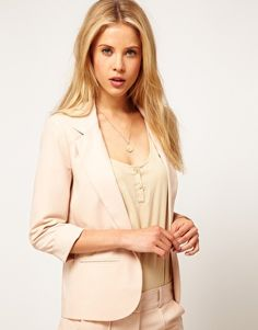 Enlarge ASOS Blazer With Roll Sleeve
