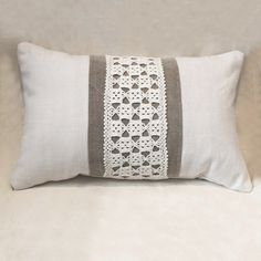 Doily and linen pillow