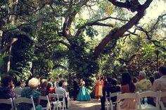 Oak pavilion wedding ceremony at Sunken Gardens St Peterburg, FL