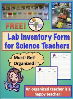 Classroom Freebies: End of the Year Science Lab Inventory