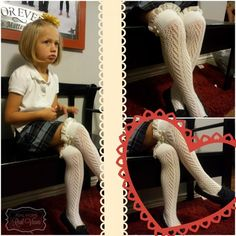 Look how cute these boot socks are for little girls.  They can be worn with boots or as knee highs.  So cute with school uniforms.  Read Erin's review for more information on Grace & Lace