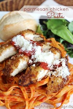 All the tasty goodness of Chicken Parm rolled into a pasta dish!